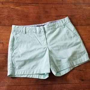 J Crew mint chino shorts